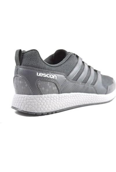 Lescon Flex Pace Erkek Spor Ayakkabı Füme