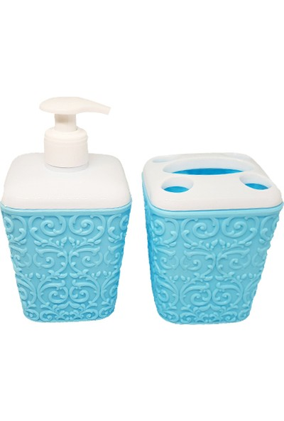 Poyraz Sarmaşık 2'li Banyo Seti Sıvı Sabunluk + Diş Fırçalık