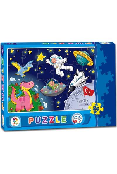 Laço Astronot 24 Parça Çocuk Puzzle