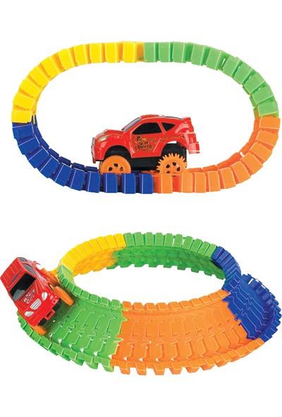 Beren Puzzle Track Set Yap Bozlu Pilli Araba Yarış Parkuru Oyun Seti - 53 Parça