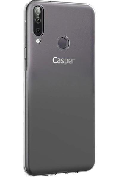 Microsonic Casper Via F3 Kılıf Transparent Soft Beyaz