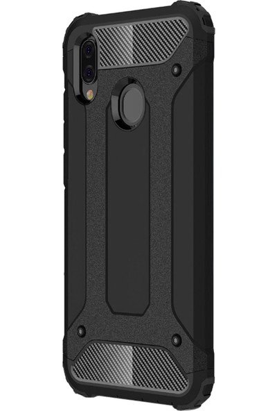Microsonic Samsung Galaxy A20e Kılıf Rugged Armor Siyah
