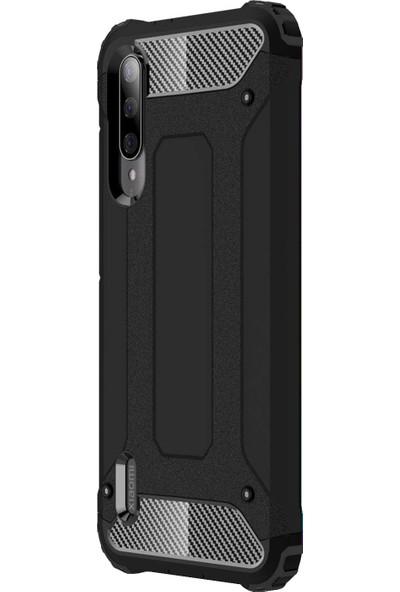 Microsonic Xiaomi Mi A3 Kılıf Rugged Armor Siyah