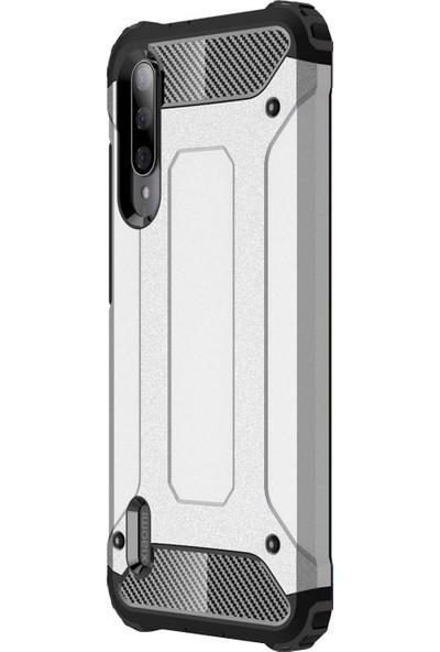 Microsonic Xiaomi Mi A3 Kılıf Rugged Armor Gümüş