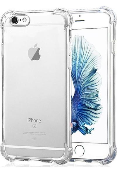 Quse Apple iPhone 6 Ultra İnce Antishock Premium Şeffaf Silikon Kılıf Airbag Arka Kapak