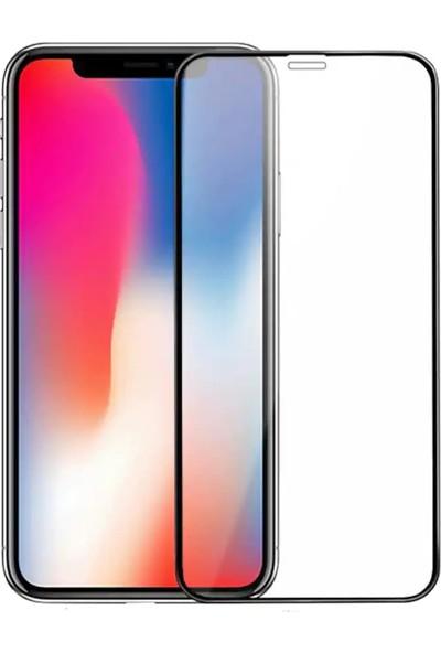 Quse Apple iPhone XS Tam Kaplayan 5D Ekran Koruyucu Cam