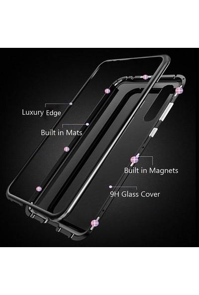 Case Street Samsung Galaxy A70 Kılıf Magnetic Cam 2 in 1 Arka Cam Siyah