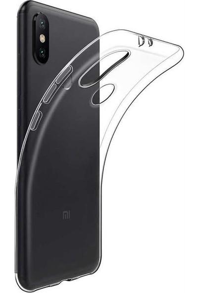 Case Street Alcatel 3V Kılıf Süper Sillikon Yumuşak Arka Koruma + Nano Glass Şeffaf