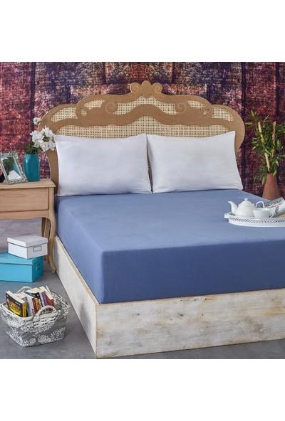 Komfort Home Ekstra Çift Kişilik Penye Lastikli Çarşaf 200 x 200 cm