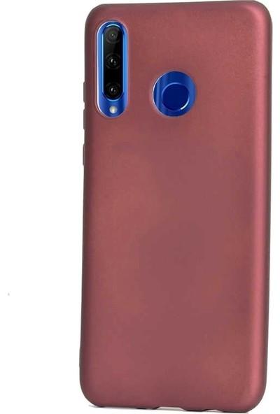 Gpack Motorola One Vision Kılıf Premier Silikon Esnek Koruma + Nano Glass Mürdüm