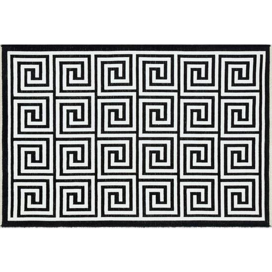 Türkmen Halı Palermo 6114 Siyah Kilim 80x150 cm