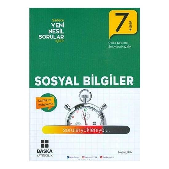 Başka Yayınları 7.Sınıf Sosyal Bil. Yeni Nesil Soru Kitabı