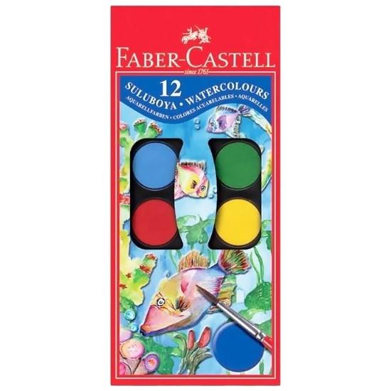 Faber-Castell Suluboya 12 Renk Büyük Boy
