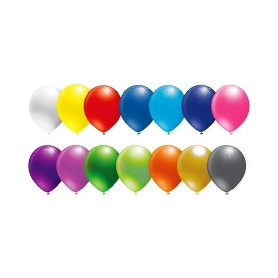 Balon Evi Karışık Renk Metalik Balon Parlak Balon Sedefli Balon 50 Adet