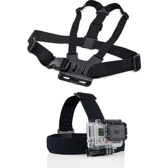 KingMa GoPro Uyumlu Göğüs Askısı ve Kafa Bandı Seti