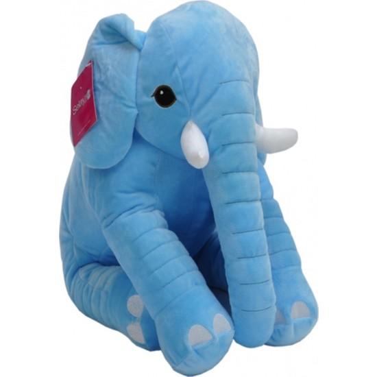 Selay Oturan Dişli Fil 50 cm Mavi