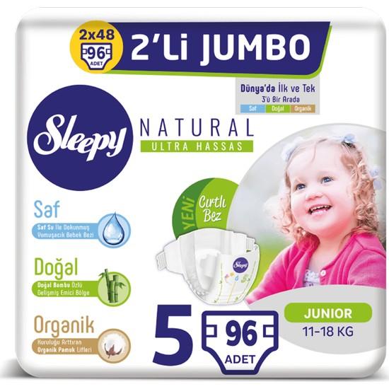 Sleepy Natural Bebek Bezi Ikili Jumbo 5 Numara 48X2 (96 Adet)