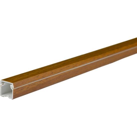 A Plus Elektrik 12x12 mm Lamine Kaplamalı Ceviz 2x1m=2m Bantsız Kablo Kanalı