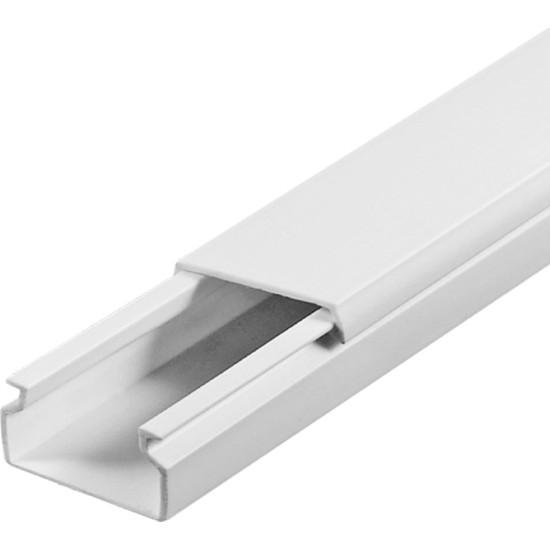 A Plus Elektrik 15x10 mm Beyaz 2x1m=2m Bantsız Kablo Kanalı