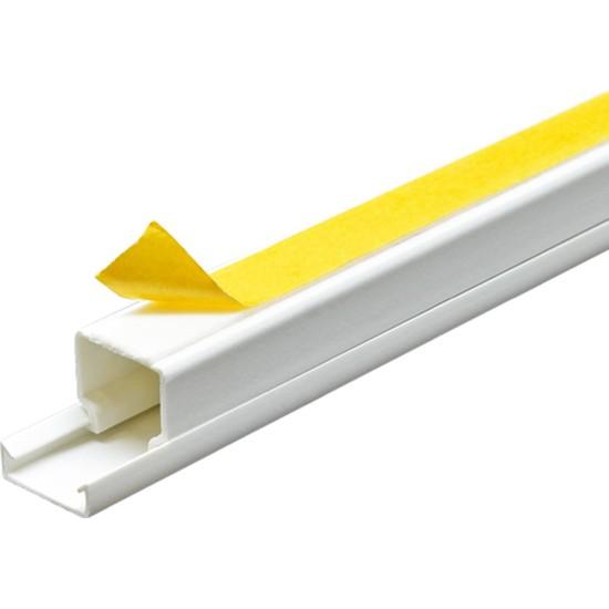 A Plus Elektrik 16x16 mm Güçlü Yapışkan Bantlı Beyaz 133x2m=266m Kablo Kanalı
