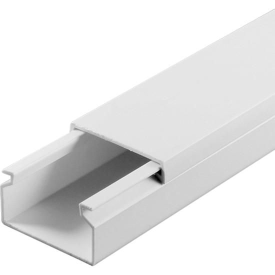 A Plus Elektrik 25x16 mm Beyaz 4x1m=4m Bantsız Kablo Kanalı