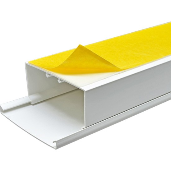 A Plus Elektrik 80x40 mm Güçlü Yapışkan Bantlı Beyaz 6x1,5m=9m Kablo Kanalı