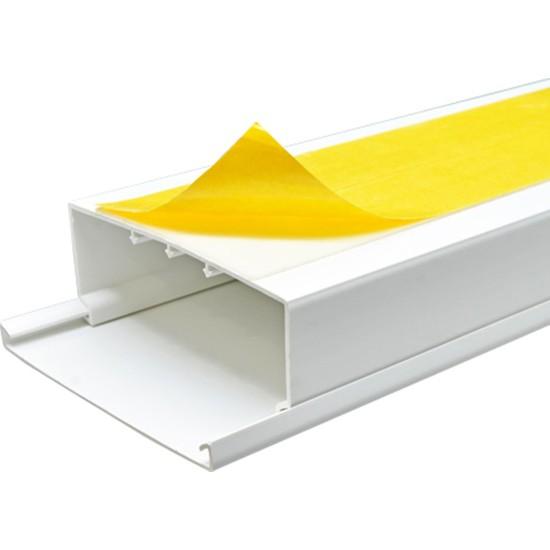 A Plus Elektrik 100x40 mm Güçlü Yapışkan Bantlı Beyaz 4x1,5m=6m Kablo Kanalı