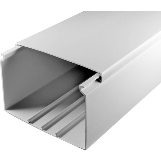 A Plus Elektrik 100x60 mm Beyaz 2x1m=2m Bantsız Kablo Kanalı