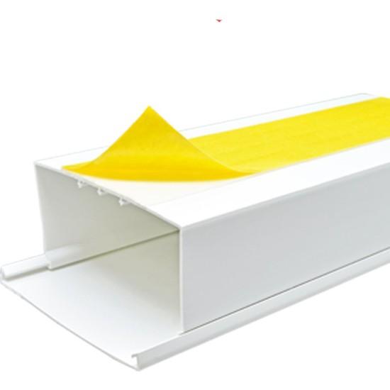 A Plus Elektrik 120x60 mm Güçlü Yapışkan Bantlı Beyaz 2x1m=2m Kablo Kanalı