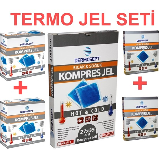 Dermosept Sıcak Soğuk Termo Jel Kompres Buz Jel Termojel Seti
