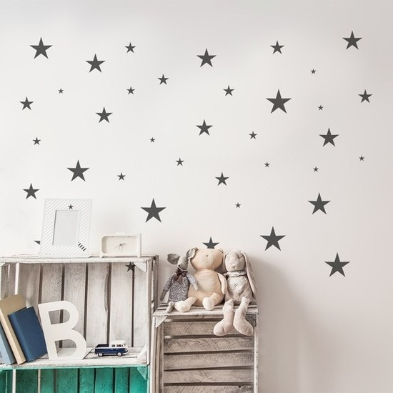 Bebenis Yıldız Sticker Gri