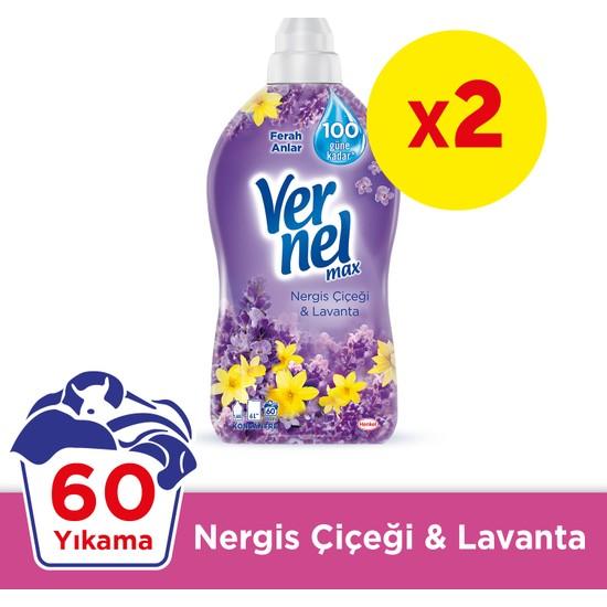 Vernel Max Nergiz Çiçeği Lavanta 1440 ml x 2
