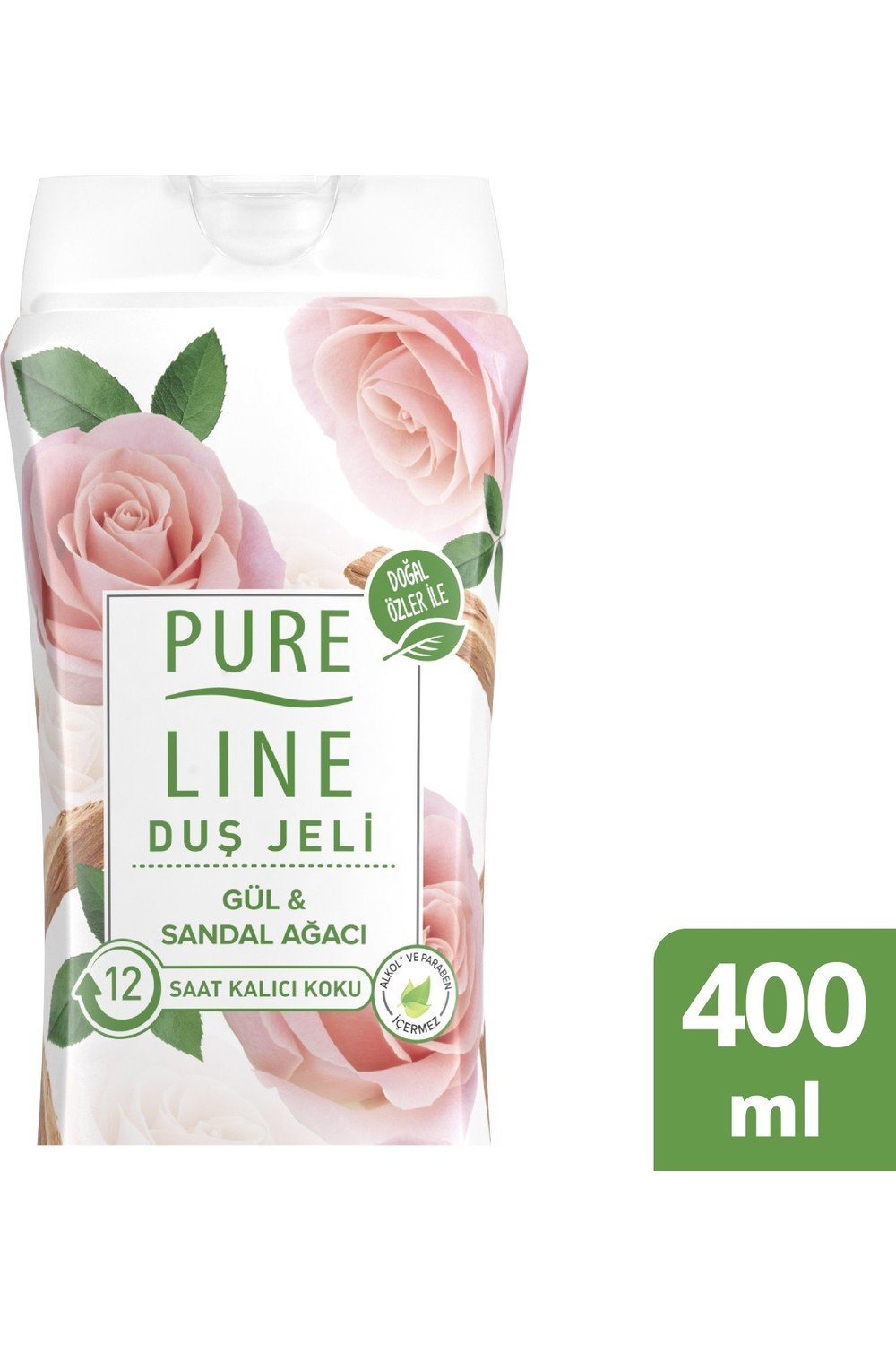Pure Line Rose and Sandalwood Shower Gel 400 ML