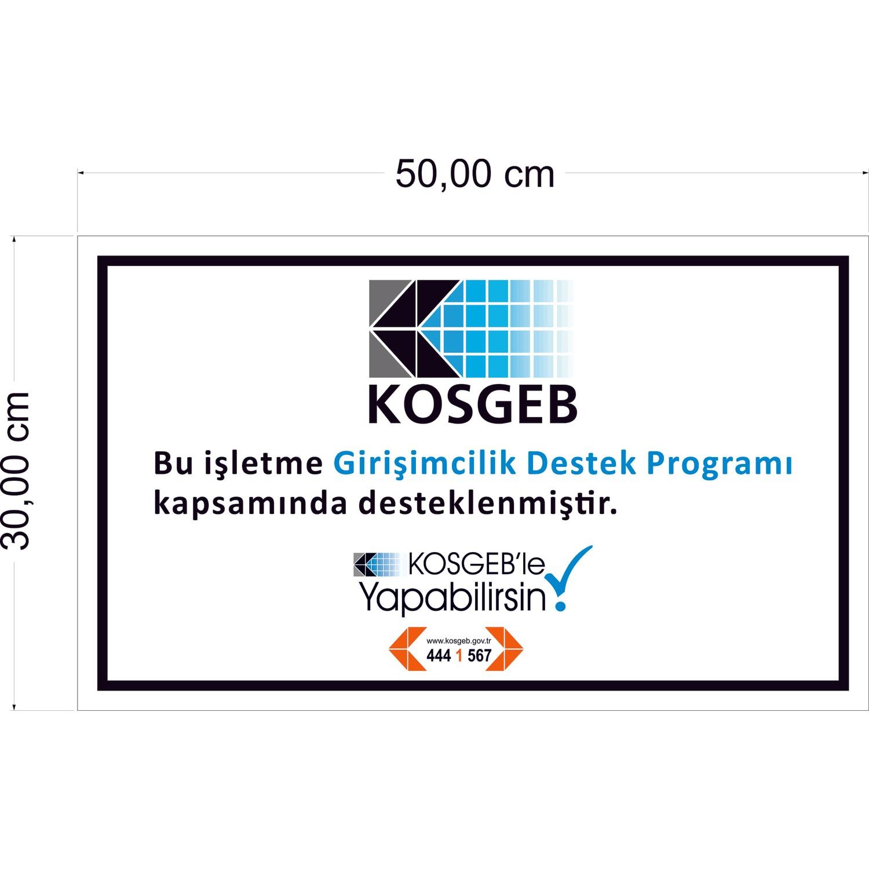 Kosgeb Destek Programı Tabelası (Sticker) Fiyatı