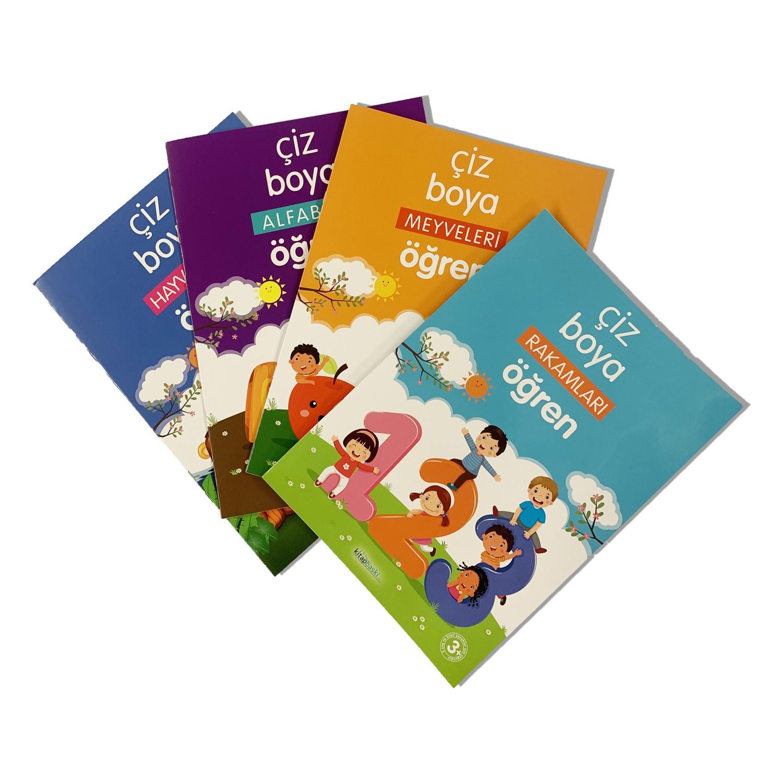 Cocuk Boyama Kitabi 4 Lu Set 3 6 Yas Grubu Icin Fiyati