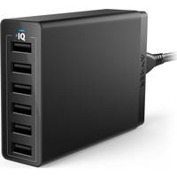 Anker PowerPort 6 Seyahat Şarj Cihazı 60W 6 Portlu Siyah