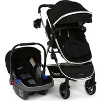 Yoyko City Seyahat Sistem Bebek Arabası 3 in 1 Siyah Silver