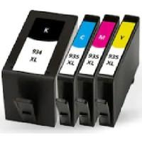 Powertiger Hp 932XL - 933XL-CN053AE 7510 7610 6100 4'lü Muadil Kartuş Seti