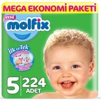 Molfix Bebek Bezi 5 Beden Junior Mega Ekonomi Paketi 224 Adet