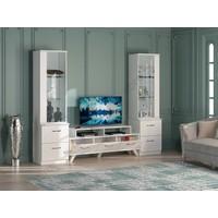 Astra Tv Ünitesi LCD Sehpası Beyaz