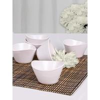 Keramika Mat Beyaz Tigela Çerezlik/Sosluk 11 Cm 6 Adet