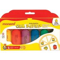 Monami Sökülebilir Cam Boyası 6 Renk x 35 Ml.