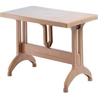 Novussi Masa - Plastik Masa - Gardelia Omega Bahçe Masası -Açık Kahve 70 x 120