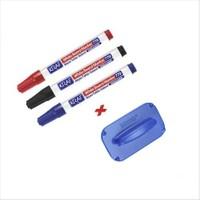 Kraf 770 3 Adet Karışık Renk Tahta Kalemi + Tahta Silgisi