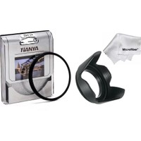 Tianya Canon 2000D 4000D 18-55 mm Lens İçin 58 mm Slim Uv Filtre + Yaprak Parasoley