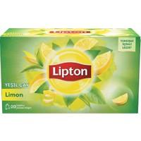 Lipton Bardak Poşet Bitki Çayı Limonlu Yeşil Çay 20'Li