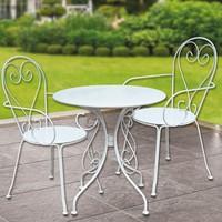 Bidesenal Ferforje Masa Sandalye Takımı 3'lü Mutfak Seti Bahçe Balkon Sandalye Masa Seti