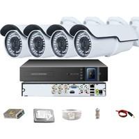 QROMAX PRO 742B 4' lü 5 Megapiksel SONY LENS 1080P Aptina Sensör Metal Kasa Güvenlik Kamerası Seti