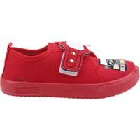 Sanbe 106P 106 Okul Kreş Işıklı Erkek Çocuk Keten Panduf Ayakkabı Kırmızı