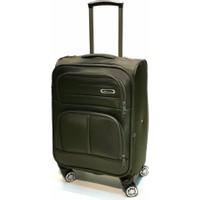 NK Kabin Boy Valiz 4 Tekerlekli Kumaş Yeşil 0012